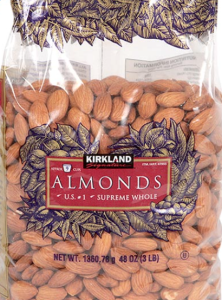 kirkland almonds, non salted