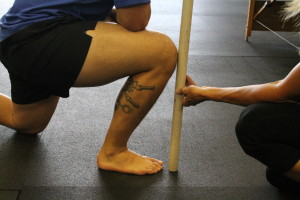 Less than Ideal ankle mobility. This will make squatting very difficult.