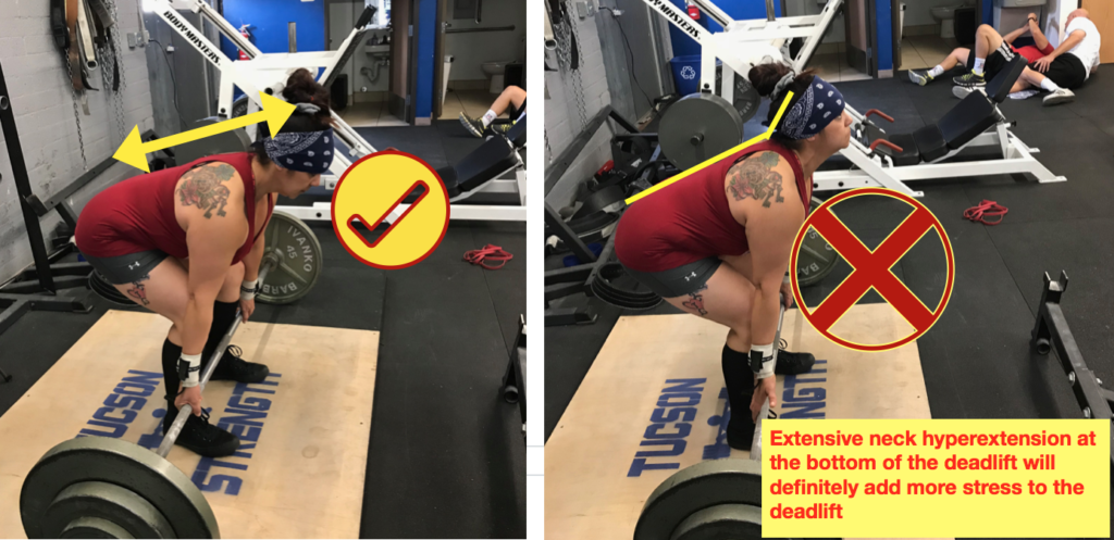 Optimal head position on the Deadlift