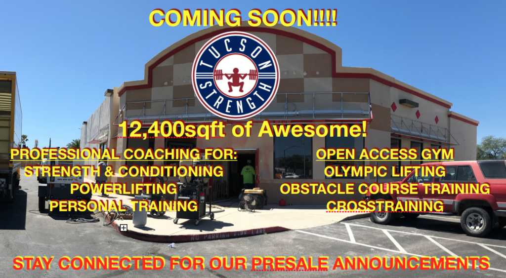 Tucson Strength training facility powerlifting OCR training