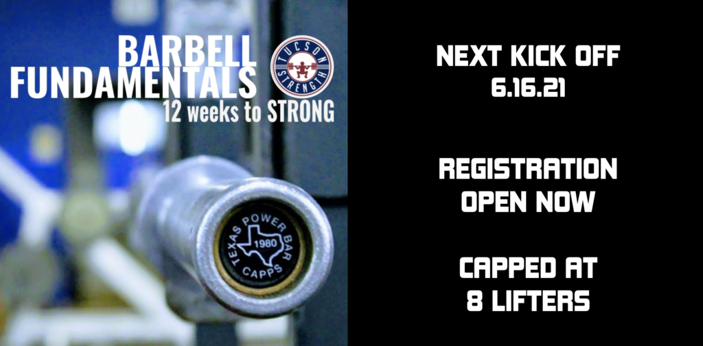 Barbell Training classes tucson powerlifting