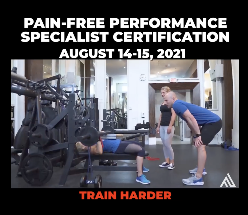 Pain Free Performance Certification