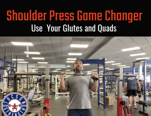 Shoulder Press- Use your Glutes and Quads