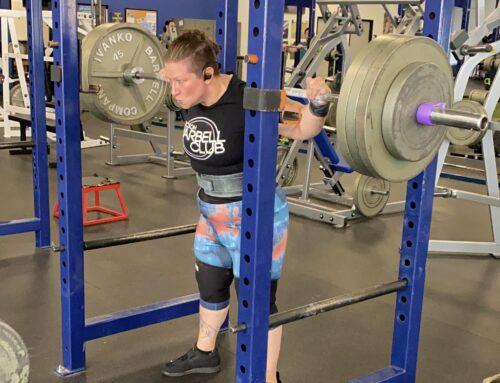 Coach Jessica Squatting 365lbs Easy